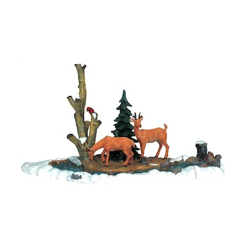 Feeding Deer, Set Of 3