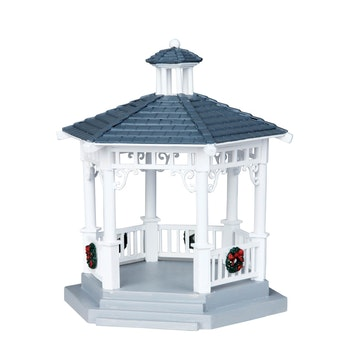 Plastic Gazebo With Decorations, Set Of 6