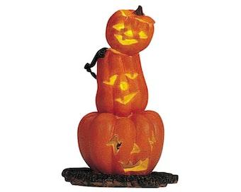 Lighted Pumpkin Totem
