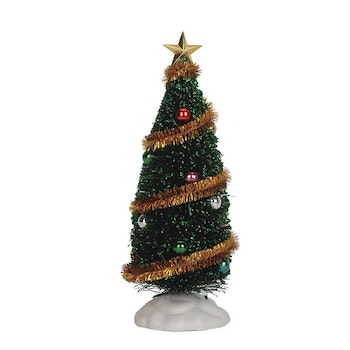 "9"" Sparkling Green Christmas Tree"