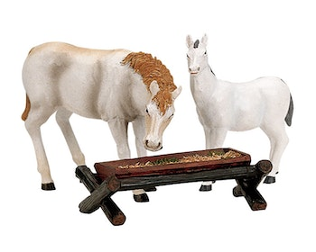 Horses At The Trough