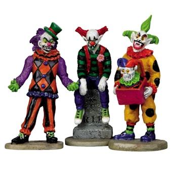 Evil Sinister Clowns, Set Of 3