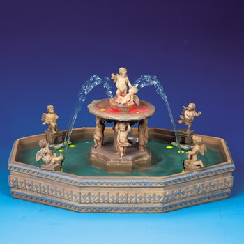 Lighted Village Square Fountain