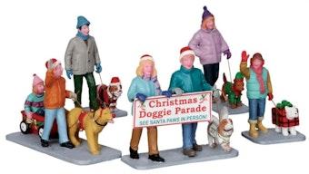 Christmas Doggie Parade, Set Of 5