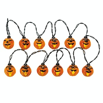 12 Lighted Pumpkin Garland String