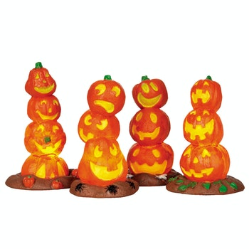 Light-Up Pumpkin Stack, Set Of 4