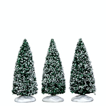 Snowy Juniper Tree, Small, Set Of 3