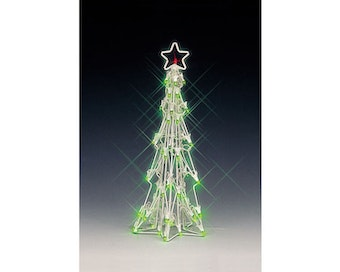 Lighted Sculpture-Slim Christmas Tree Medium