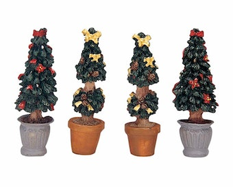 Cone-Shaped Topiaries  Christmas Tree