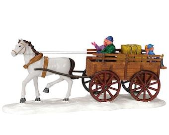 Winter Hay Wagon