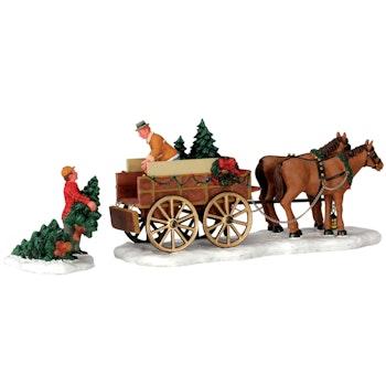Christmas Tree Wagon, Set Of 2