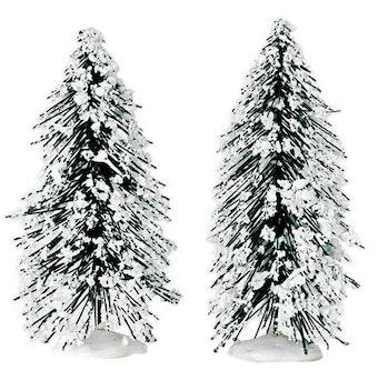 """4"""" Needle Pine Tree, Set Of 2"""