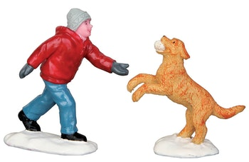 Dog In Snow, Set Of 2