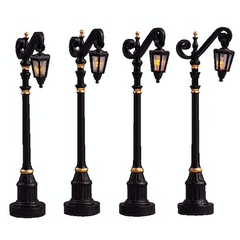"4"" Colonial Street Lamp, Set Of 4"