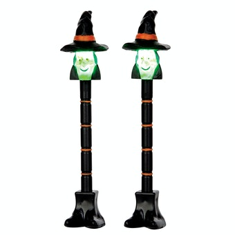 Witch Lamp Post, Set Of 2
