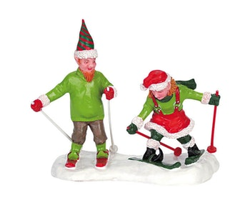 Skiing Action Elves