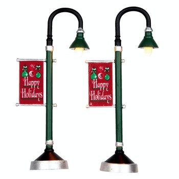 Municipal Street Lamps, Set Of 2