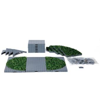 Plaza System (Grey, Round Grass) - 24 pcs