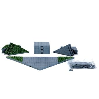 Plaza System (Grey, Triangle Grass) - 24 pcs