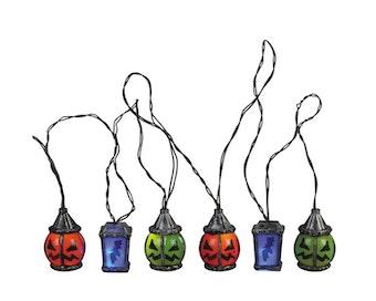 6 Lighted Spooky Lantern