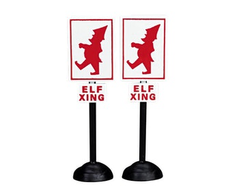 Elf Crossing Signs