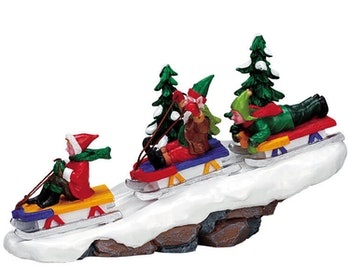 Elf Sledding Party