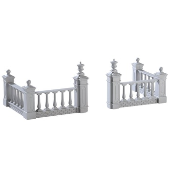 Plaza Fence, Set Of 4