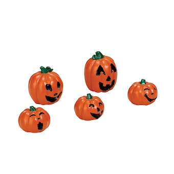 Happy Pumpkin Family, Set Of 5