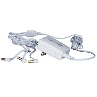 4.5V 3-Output Adapter White Fixed EU Plug