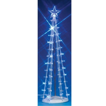 "9"" Lighted Silhouette Tree, Blue"