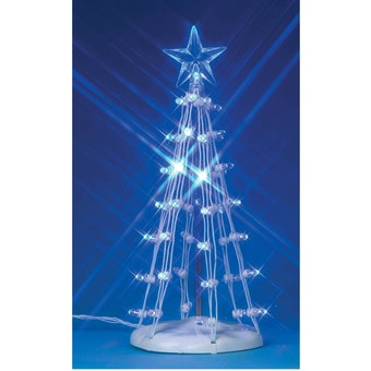 "6"" Lighted Silhouette Tree, Blue"