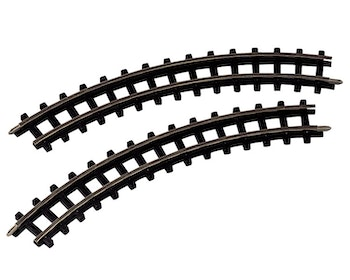 2-Piece Curved Train Tracks