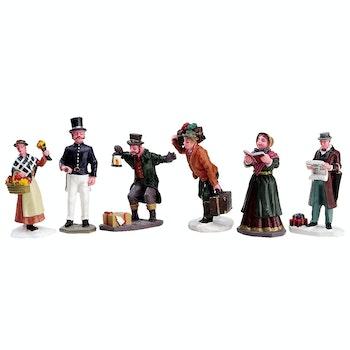Townsfolk Figurines, Set Of 6