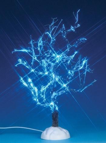 Lighted Ice Glazed Tree, Blue