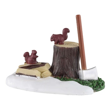 Axe And Logs