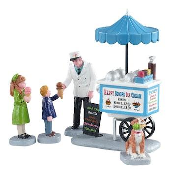 Happy Scoops Ice Cream Cart