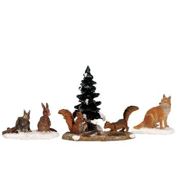 Woodland Animals, Set Of 4