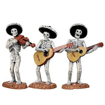 Skeleton Mariachi Band, Set Of 3