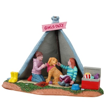Girls Backyard Camping
