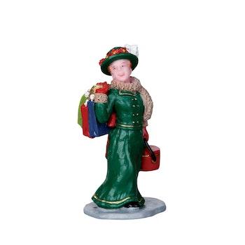 Vintage Jolly Holiday Shopper