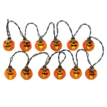 12 Lighted Pumpkin Garland String