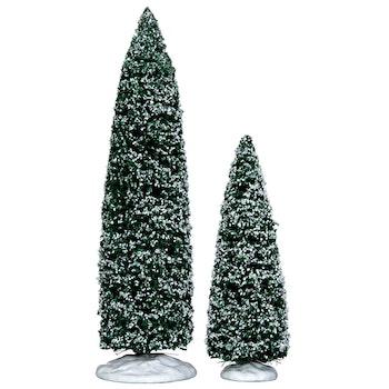 Snowy Juniper Tree, Large & Medium, Set Of 2