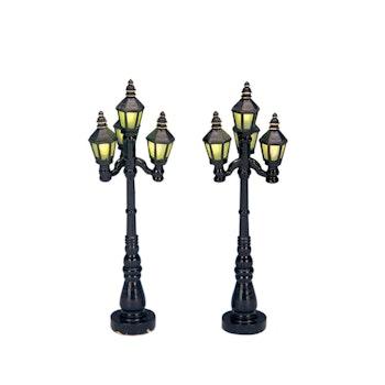 4 Old English Street Lamp, Set Of 2