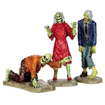Walking Zombies, Set Of 3