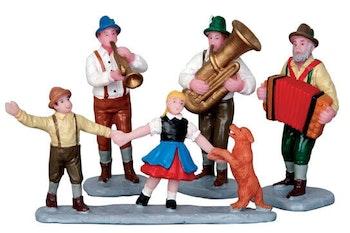 Alpine Musicians  Set Of 4