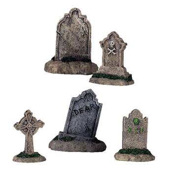 Tombstones, Set Of 5