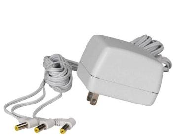 Ac Power Adaptor W/3-Output Jacks Ul/Cul