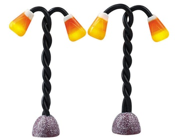 Candy Corn Lamp Post