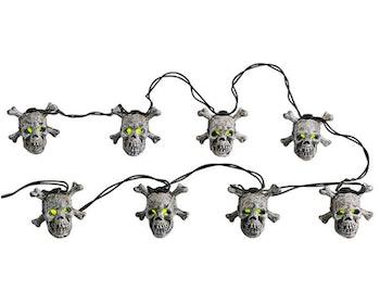 8 Lighted Skull String