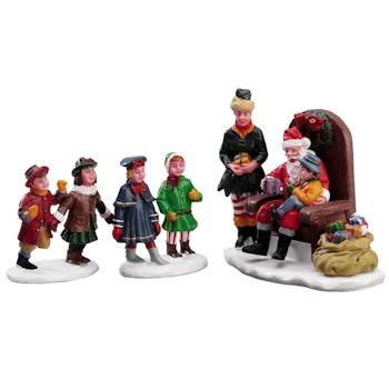 Visiting Santa, Set Of 3
